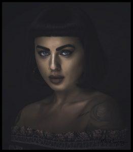 Studio model photography